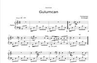 نت پیانوی Gulumcan از ahu saglam
