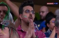 لحظات شادی و اندوه پس از پایان بازی ایران و ژاپن
