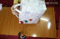 آموزش ساخت زنبیل با کاغذ