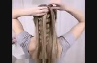 آموز بافت مو مدل آبشاری  - آرایش مو