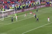 فیلم گل سوم فرانسه به کرواسی در فینال جام جهانی 2018