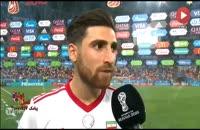فیلم مصاحبه جهانبخش و ژائو ماریو پس از بازی ایران و پرتغال