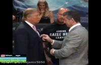 درگیری فیزیکی تماشایی ترامپ و مدیر کشتی کج آمریکا