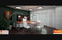 میز های مدیریت و میز کارمندی پایه فلزی بنکو | 26100782