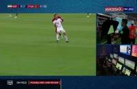 فیلم ضربه عمدی به پورعلیگنجی در جام جهانی 2018