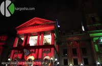 نورپردازی 3 بعدی نما به مناسبت کریسمس - ملبورن استرالیا