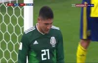 صحنه گل سوم سوئد به مکزیک در جام جهانی 2018