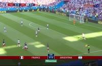 خلاصه بازی آرژانتین 3 - فرانسه 4 جام جهانی روسیه 2018