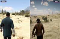 مقایسه گرافیک بازی های GTA 5 و Red Dead Redemption 2 در حالت 4K