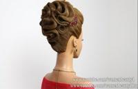 گلچین - Bridal hairstyle for long hair tutorial. Wedding prom updo  | شینیون