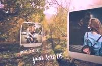 پروژه افترافکت کلیپ عروسی بسبک پاییز با موزیک پویا