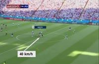 تخمین سرعت کیلیان امباپه روی ضد حملات فرانسه