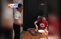 دیدار نصرت؛ آشپز معروف ترکی با لیونل مسی