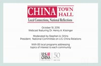 CHINA Town Hall with Henry Kissinger 2016