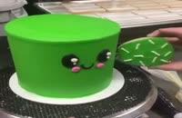 ایده تزینات کیک سبز