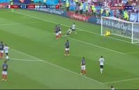 گل سوم آرژانتین به فرانسه توسط آگوئرو