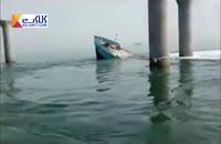 فیلم غرق شدن کشتی ایرانی در دریای کویت
