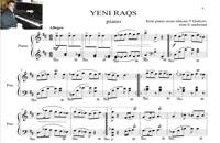 نت آذری ینی رقصی ارجینال برای پیانو