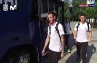 حضور تیم ملی اسپانیا در مسکو برای بازی با روسیه در جام جهانی 2018