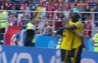 گل سوم بلژیک به تونس در جام جهانی 2018