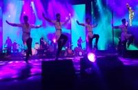 رقص آذری با آهنگ لاله لر با اجرای زنده موسیقی در کنسرت برج میلاد