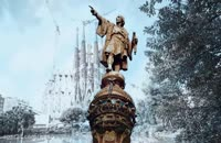 تایم لپس زیبایی از دیدنی های بارسلون ، اسپانیا