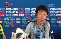 کنفرانس خبری سرمربیان کره جنوبی و آلمان پیش از بازی دو تیم