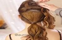 مو درست کردن. ساده  (شنیون)