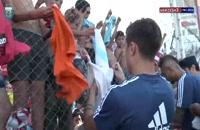 فیلم تمرینات بازیکنان تیم ملی آرژانتین در میان استقبال پرشور هواداران