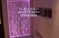 اجرای آبنمای شیشه ای مدرن در رستوران، اب نما حباب نما،حباب نما ی شیشه ای