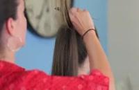 آموزش بافت موی زیبا پشت سر  | شنیون