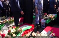تشییع پیکر شهدای سانحه هواپیمایی باربری ارتش
