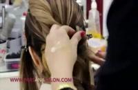 شینیون خانم سارا در سالن زیبایی و عروس پارس آنا  (مدل آرایش مو)