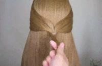 آموزش بافت موی مجلسی برای مهمانی ها  (مدل شینیون بستن مو)