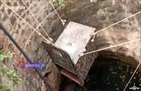 نجات یک پلنگ از چاه سی متری + فیلم