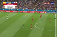 خلاصه بازی برزیل 1 - بلژیک 2 جام جهانی 2018
