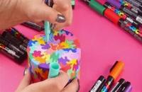 آموزش نقاشی جعبه و سنگ به شکلی زیبا