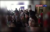 فیلمی از خوشحالی دانش آموزان استقلالی بعد از گل کاشیما