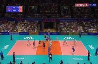 فیلم رالی دیدنی در جریان بازی والیبال فرانسه - ایتالیا