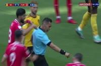 گل اول بلژیک به تونس (هازارد-پنالتی)