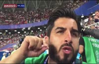 صحنه زخمی شدن خبرنگار ایرانی توسط کریستیانو رونالدو