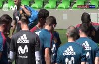 تمرین امروز تیم ملی اسپانیا همراه راموس