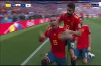 گل اول اسپانیا به روسیه - گل به خودی ایگناشویچ
