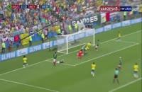 گل اول برزیل به مکزیک - نیمار