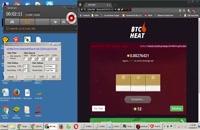 لینک ROOT شده ی خوش شانسی در سایت BTC HEAT