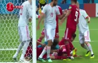 دفاع جانانه ایران در کرنر اسپانیا و تیکه فردوسی پور به بازیکان | جام جهانی 2018