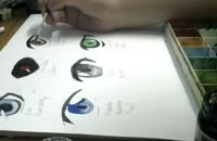 نقاشی چشم انیمه