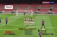 چالش ضربات ایستگاهی با مسی و رونالدو در بازی