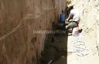 کرگیری از دیوار حائل بتنی به ضخامت ۹۰ سانتیمتر