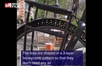 تایر بدون باد برای دوچرخه ساخته شد